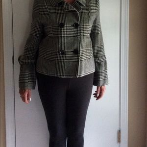 Houndstooth double breasted jacket